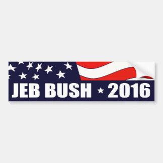 Jeb Bush President 2016 American Flag Bumper Sticker