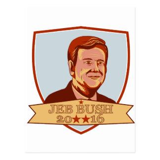 Jeb Bush President 2016 Shield Postcard