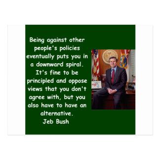 Jeb Bush quote Postcard