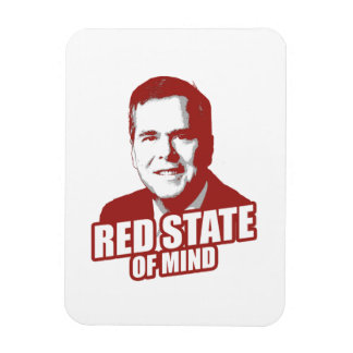JEB BUSH RED STATE OF MIND -.png Rectangular Photo Magnet