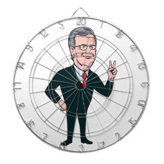 Jeb Bush Republican Candidate 2016 Cartoon Dartboards