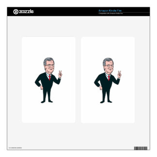 Jeb Bush Republican Candidate 2016 Cartoon Decals For Kindle Fire