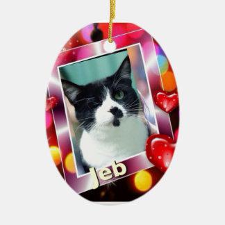 Jeb Ceramic Ornament