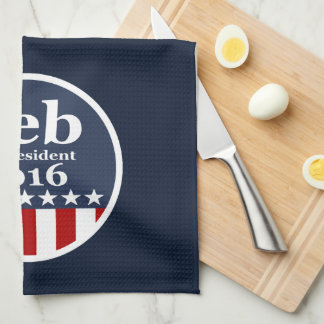 Jeb for President 2016 Kitchen Towel