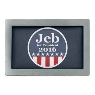 Jeb for President 2016 Rectangular Belt Buckle