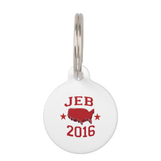 Jeb Republican President for America 2016 Pet Nametag