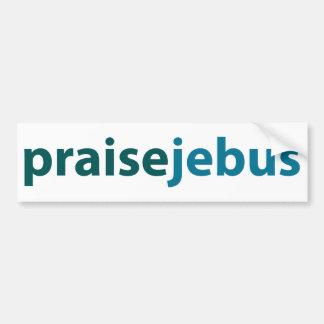 jebus de la alabanza pegatina de parachoque