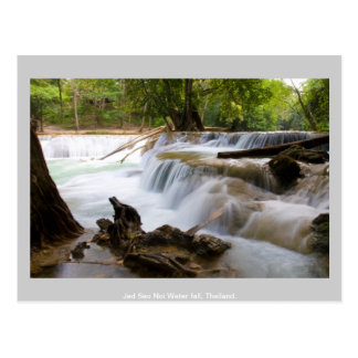 Jed Sao Noi Water fall Thailand. Postcard