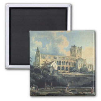 Jedburgh Abbey by Thomas Girtin 2 Inch Square Magnet