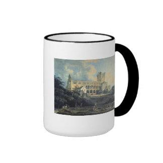 Jedburgh Abbey by Thomas Girtin Ringer Coffee Mug
