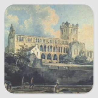 Jedburgh Abbey by Thomas Girtin Square Sticker