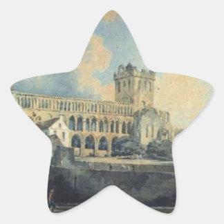 Jedburgh Abbey by Thomas Girtin Star Sticker