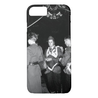Jedburghs in front of B-24 just_War Image iPhone 7 Case