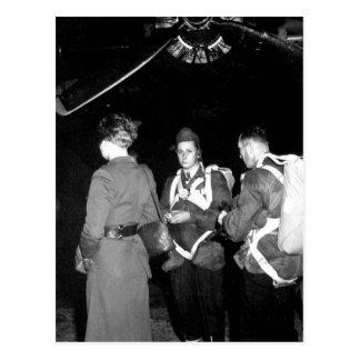 Jedburghs in front of B-24 just_War Image Postcard