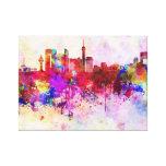 Jeddah skyline in watercolor background