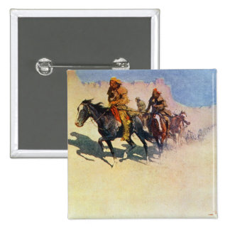 Jedediah Smith making his way across the desert 2 Inch Square Button