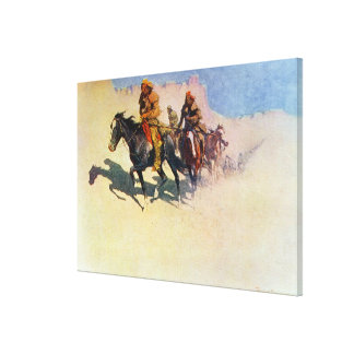 Jedediah Smith making his way across the desert Canvas Print