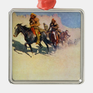 Jedediah Smith making his way across the desert Metal Ornament