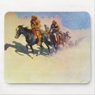 Jedediah Smith making his way across the desert Mouse Pad