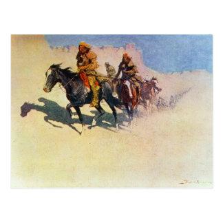 Jedediah Smith making his way across the desert Postcard