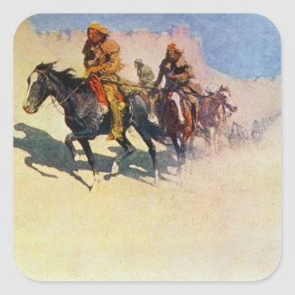 Jedediah Smith making his way across the desert Square Sticker