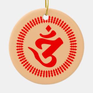 Jedi Warrior Double-Sided Ceramic Round Christmas Ornament