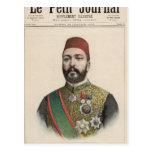 Jedive del bajá de Twefik de Egipto Tarjetas Postales