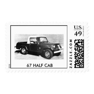 Jeep1, 67 HALF CAB Postage