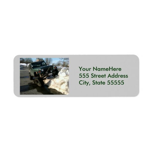 Jeep Address2 de vuelta Etiqueta De Remite