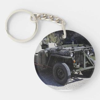 Jeep agradable restaurado de Willys Llavero Redondo Acrílico A Una Cara