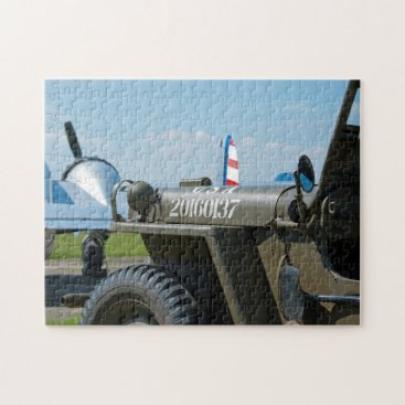 Jeep and aircraft jigsaw puzzle