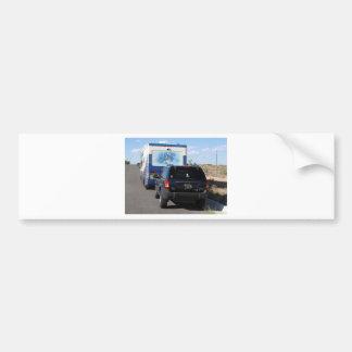 Jeep azul de la obra clásica rv Motorhome del Pegatina Para Auto