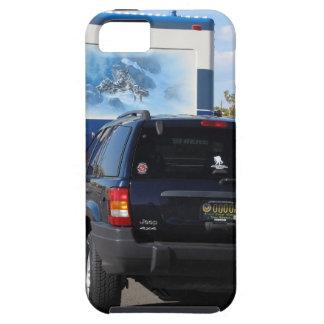 Jeep azul de la obra clásica rv Motorhome del Funda Para iPhone SE/5/5s