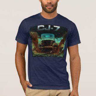 Jeep CJ7 Hitting the Mud Scene T-Shirt