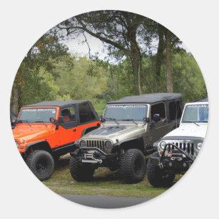 925f63b2af7 Jeep Club Classic Round Sticker