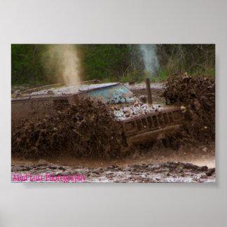 Jeep del fango impresiones
