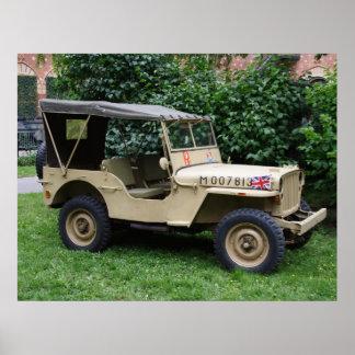 Jeep del MB de Willys Póster