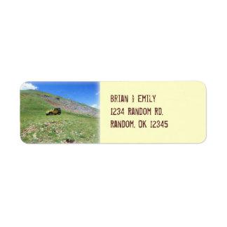Jeep en etiquetas de dirección de encargo de