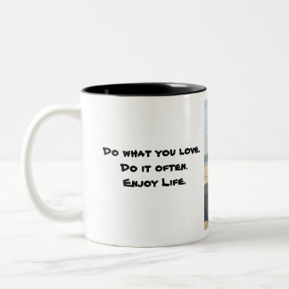 Jeep.Enjoy.Life Two-Tone Coffee Mug