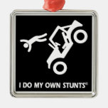 Jeep My Own Stunts Square Metal Christmas Ornament