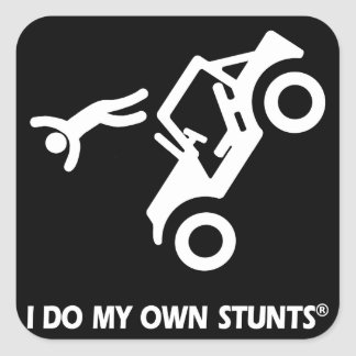 Jeep My Own Stunts Square Sticker