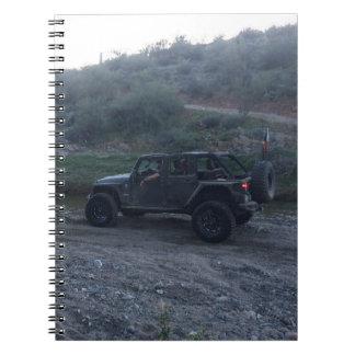 Jeep negro dulce libros de apuntes con espiral