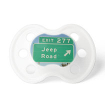 Jeep Road Sign Pacifier