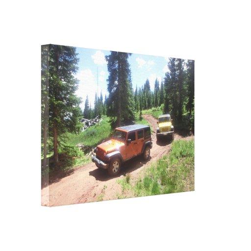 Jeep rubicon moutain adventure canvas gallery wrap canvas