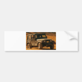 Jeep tj black bumper sticker