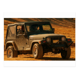 Jeep tj black postcard