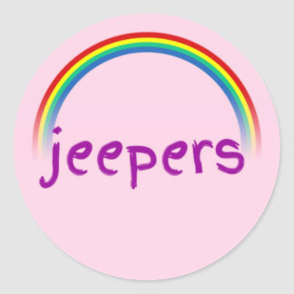 Jeepers Classic Round Sticker, Glossy Classic Round Sticker
