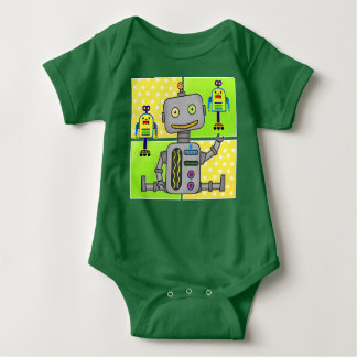 Jeepers Creepers - Cute Robot Baby Romper Outfit