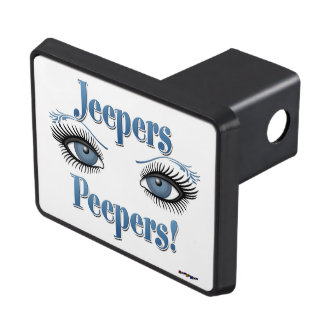 Jeepers Peepers - Blue Eyes Trailer Hitch Cover
