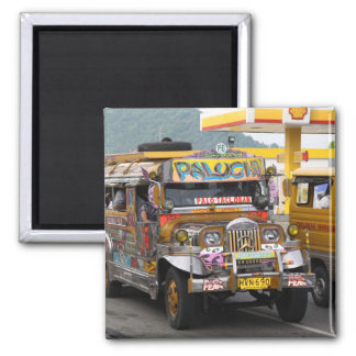 Jeepney 2 Inch Square Magnet